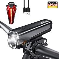 toptrek Fahrradlicht StVZO Zugelassen LED Fahrradbeleuchtung Set akku USB Wiederaufladbare CREE LED/Samsung Li-ion Batterie 7 Stunden Laufzeit IPX5 Wasserdicht Fahrradlampe für MTB/BMX (LF08)