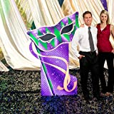 Mardi Gras Masquerade Harlequin Mask Standee Cutout Prop Standup Photo Booth Prop Background Backdrop Party Decoration Decor Scene Setter Cardboard Cutout