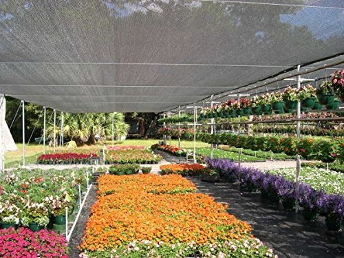 casidy 50% Black Bulk Shade Cloth UV Resistant Fabric for Greenhouse 10ft x 20ft