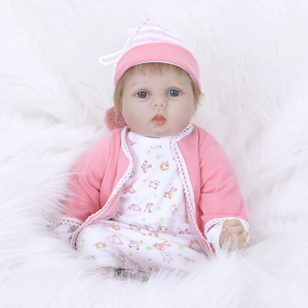 Hongge Reborn Baby Doll,Lebensechte Doll,Lebensechte Doll,Lebensechte Reborn Puppe Sieht real Neugeborenes Baby Reborn Puppe Kind Spielzeug Geschenk 55cm cb3ff7