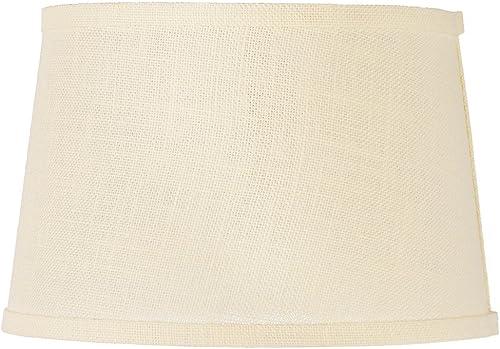 Cream Burlap Drum Lamp Shade 10x12x8 Spider – Brentwood