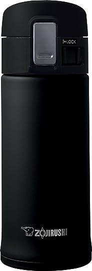 Zojirushi SM-KHE36BA 0.36- Taza de viaje de acero inoxidable de litro, 12 onzas, negro