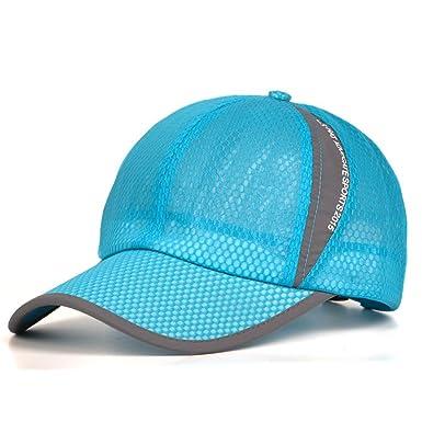 e0554535ce Baseball Cap,Hat Men's Summer Visor Cap Breathable Sun Hat Mesh Baseball Cap  Outdoor Movement