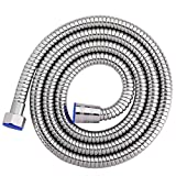 DEY Stainless Steel 59-Inch Long Shower Head Hose Bathroom Toilet Handheld Showerhead Sprayer Extension Replacement Part with BRASS Coupler, Polished Chrome.