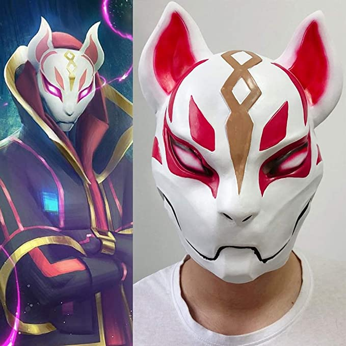 Fortnite Fox Drift Full Face Mask - Party Mask for Adult & Kids