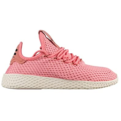 8fcee56d4 Image Unavailable. Image not available for. Color  adidas x Pharrell  Williams Big Kids Tennis HU J Pink Tactile Rose ...