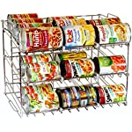 'DecoBros Supreme Stackable Can Rack Organizer, Chrome Finish' from the web at 'https://images-na.ssl-images-amazon.com/images/I/6156uFMq6+L._AC_SR150,150_.jpg'