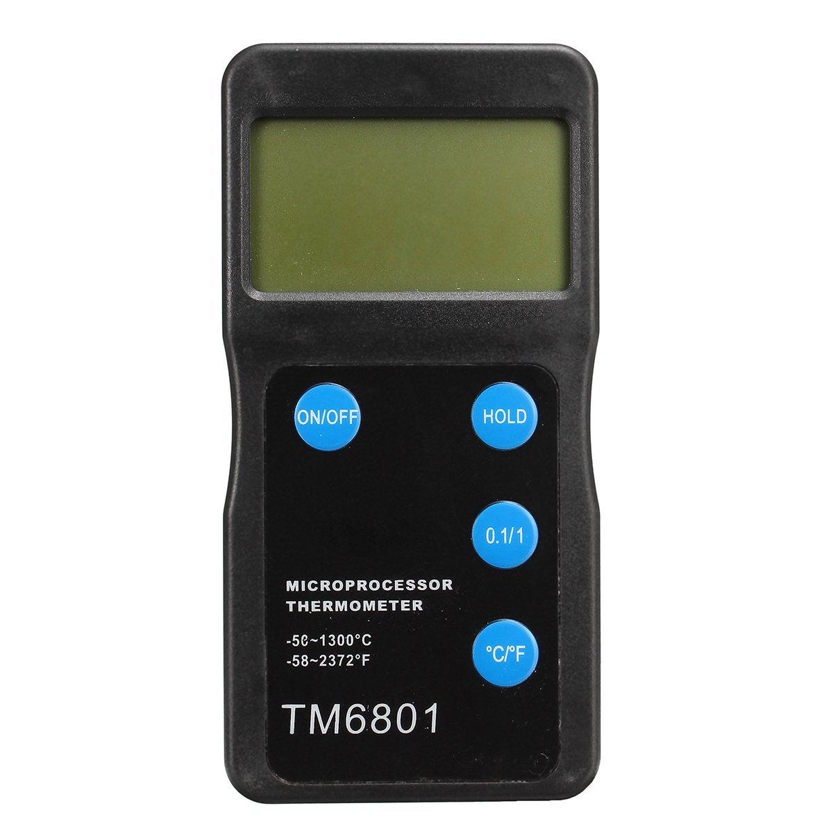QOJA tm6801 high temperature microprocessor thermometer pyrometer