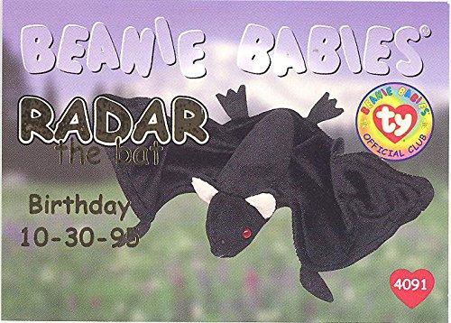 BBOC Cards TY Beanie Babies Series 1 Birthday (Gold) - Radar The Bat
