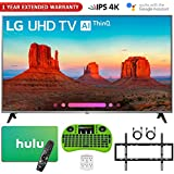 LG 65UK7700PUD 65' Class 4K HDR Smart LED AI UHD TV w/ThinQ (2018 Model) + Free Hulu $50 Gift Card + 1 Year Extended Warranty + Flat Wall Mount Kit Ultimate Bundle + More