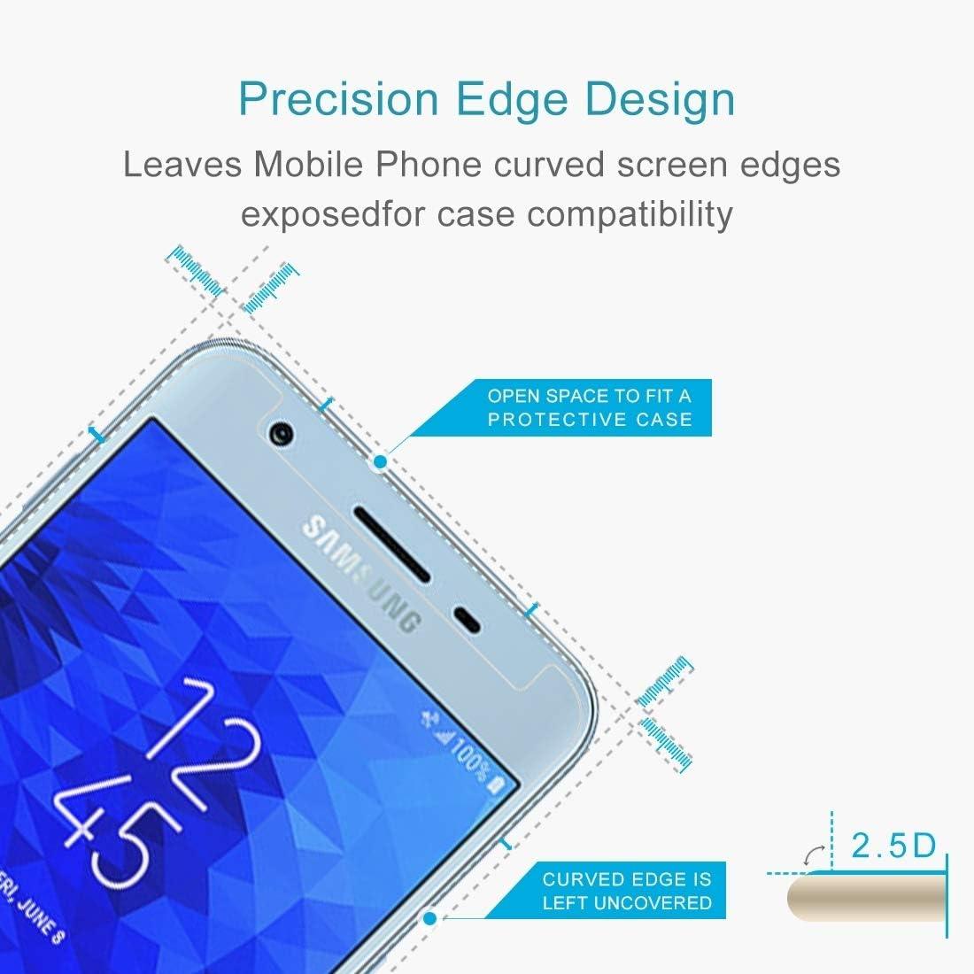 2018 Anti-Scratch Screen Protector Premium Tempered Glass Screen Film 100PCS 9H 2.5D Tempered Glass Film for Galaxy J3