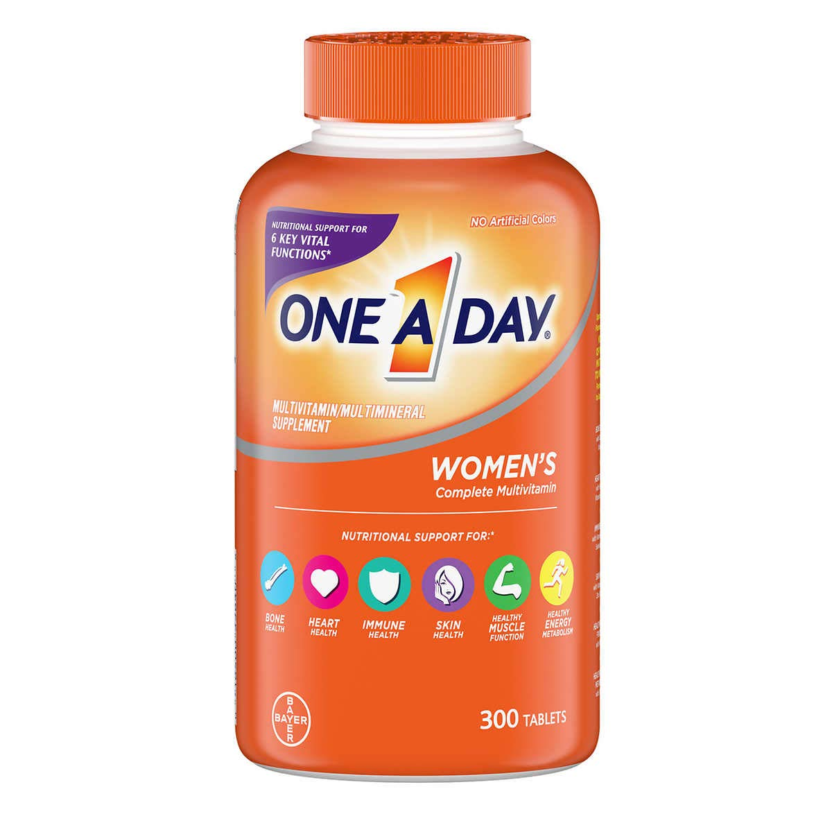 One A Day Women's Multivitamin, Supplement with Vitamins A, C, E, B1, B2, B6, B12, Biotin, Calcium and Vitamin D,