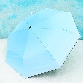 HAOXINQ Creative Gradiente Paraguas Damas Elegantes De Vinilo UV Paraguas Al Aire Libre De Doble Uso