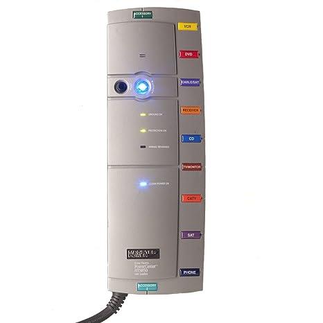 Monster Cable PowerCentre HTS 850 8 Outlets Surge Suppressor - Regleta (2590 J, Gris