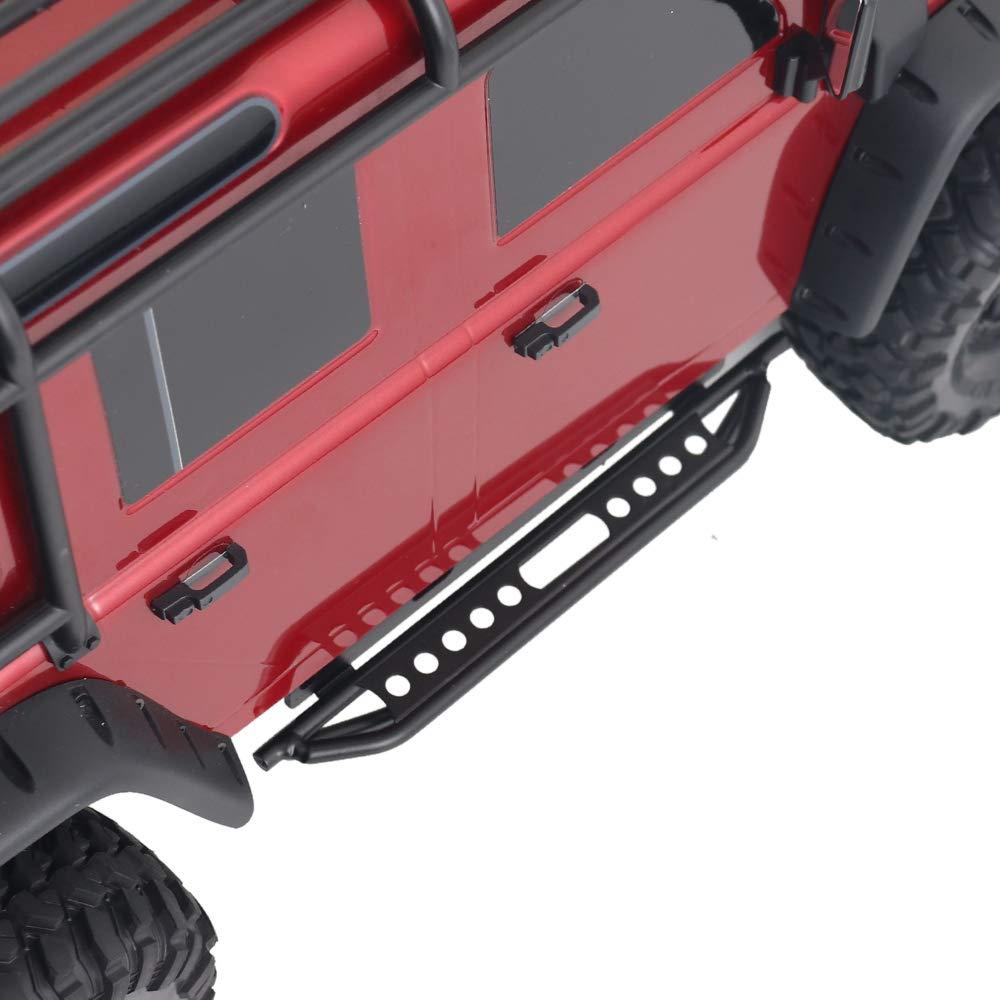 FairOnly 1 par de Pedales Laterales de Metal para 1//10 RC Crawler Car TRX4 Defender Bronco Juguetes