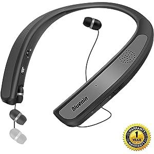 19c9e53fe80 Bluetooth Headphones Speaker 2 in 1,Bluenin Neckband Wireless Headset  Wearable Speaker True 3D Stereo