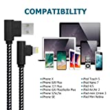 [3 Pack] Right Angle Charging Cable Nylon Braided