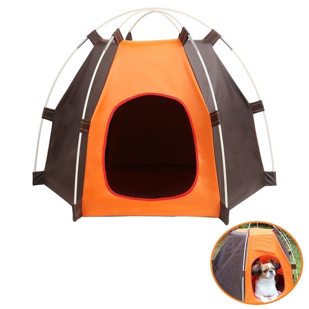 Portable Pet Camping Tent Outdoor Play Tent House for Dogs Cats Puppy Kitty - Foldable Waterproof Play Toy House Tent Bed Crate for Small Animal