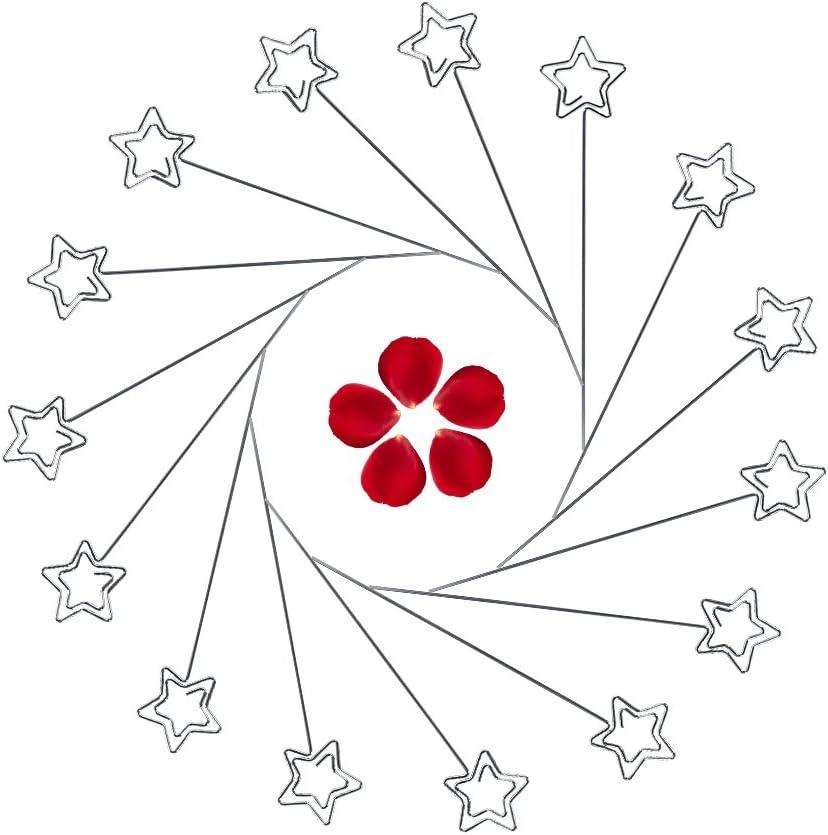 3# 50 Pezzi Porta Biglietti da Visita Memo Floral Pick Clip Carta Fotografica Immagine Memo Paper Note Display Clip Holder Zetiling Porta Biglietti da Scheda Argento, Confezione da 50
