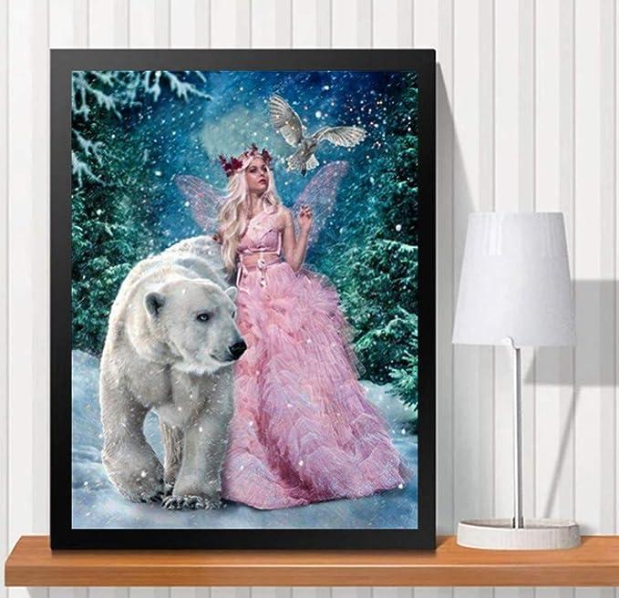 JiaMeng Decoración del hogar 5D Navidad Bordado Pinturas ...