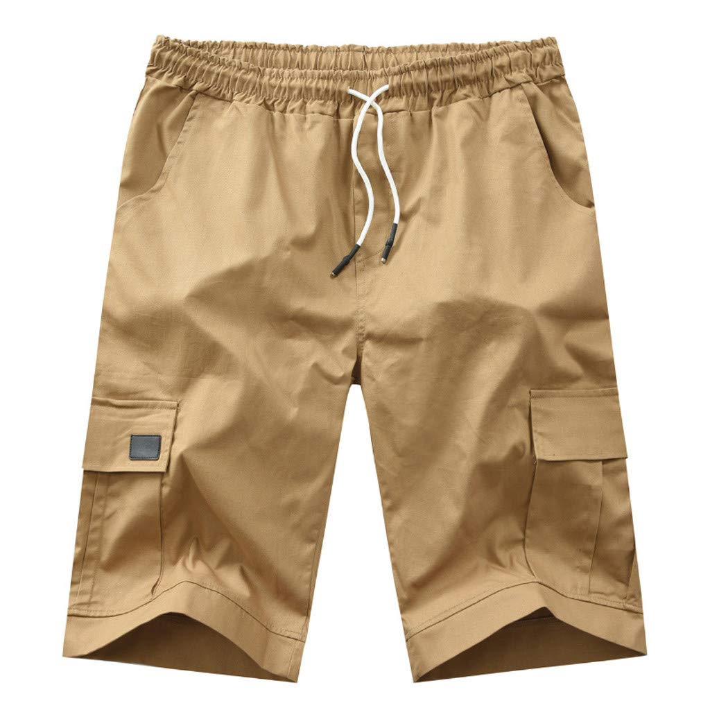 Fitfulvan Men's Outdoor Lightweight Quick Dry Hiking Shorts Sports Casual Shorts Mult-Pockets Beach Sport Pants Khaki by FitfulVan Pants/Leggings