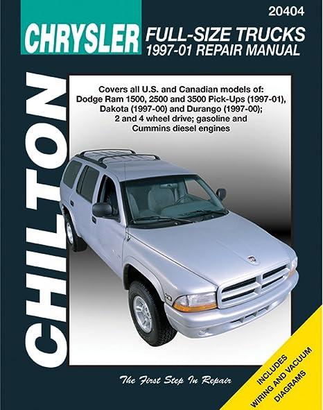 amazon com chilton dodge full size trucks 1997 2001 repair manual rh amazon com 2000 Dodge 2500 04 Dodge 2500