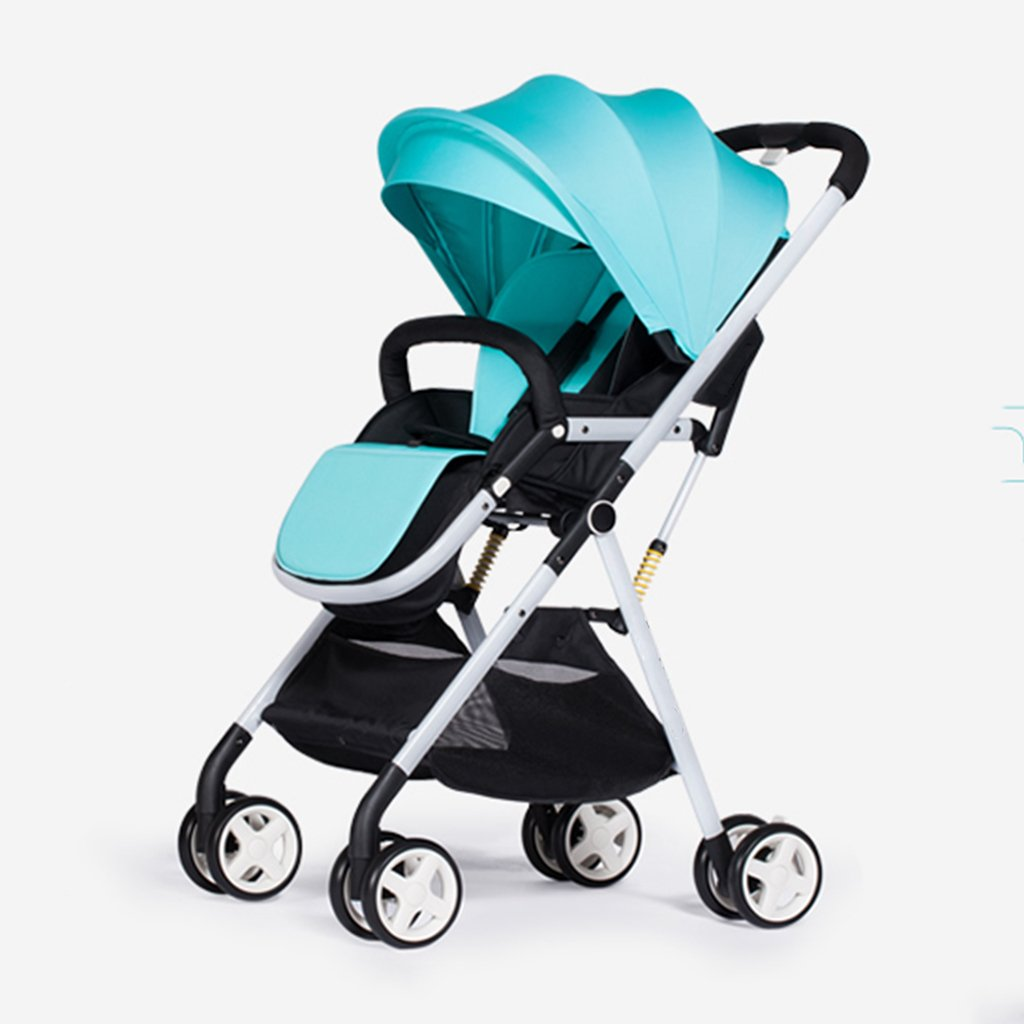 JIANXIN 赤ちゃんのベビーカーは超軽量折り畳み式で、高台のベビートロリーは飛行機に座ってダイナミックな赤を得ることができます。 (色 : Green)   B07F7SX55K