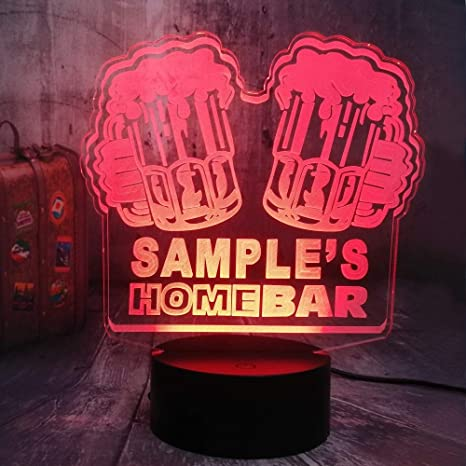 KangYD Luz 3D/Bar Beers 3D Illusion Led Night Light Mood Lámpara ...