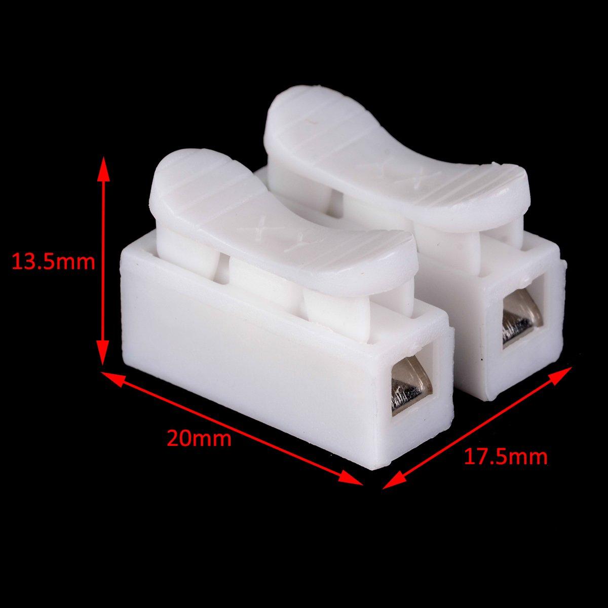 30 Stück Lüsterklemmen 2 Pins Kabel Stecker CH2 Schnelle Spleiß Lock ...