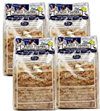 FISHY FLAKES / Case of 4 units (Total 1.25 lbs. ) / Extra Large Strips Bonito Flakes - Chef Asako - 100% Bonito Fish - Zipper Standing Bag - No Preservatives
