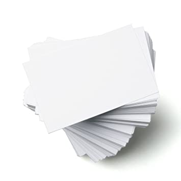 Standard size 85mm x 55mm blank white business cards 300gsm extra standard size 85mm x 55mm blank white business cards 300gsm extra strong glossy card reheart Choice Image