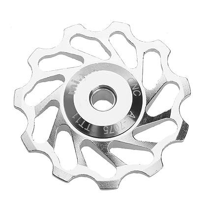 2 piezas MTB bicicleta polea de cer/ámica trasero desviador 11T gu/ía ciclismo rueda Jockey Broadroot