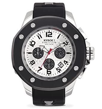 KYBOE! PORT SILVER SHADOW KPS.48-004.15 Mens Chronograph Watch