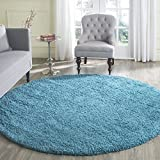 Safavieh Laguna Shag Collection SGL303T Turquoise Round Area Rug (6'7' Diameter)