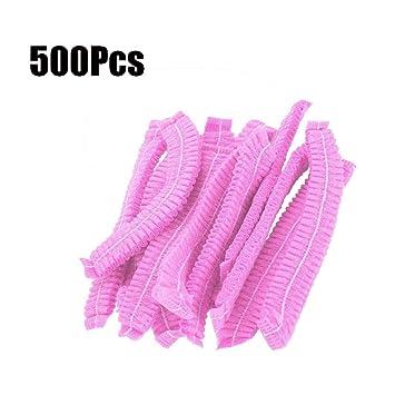 DZWJ 500 Piezas Desechables de Color Rosa con Forma de Malla ...