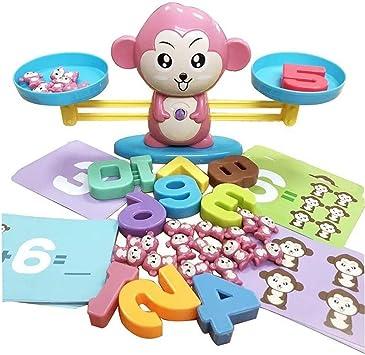 Footprintes Equilibrio Mono Iluminación Suma y resta Digital Matemáticas Escalas Juegos de Mesa Juguetes para niños Rosa: Amazon.es: Juguetes y juegos