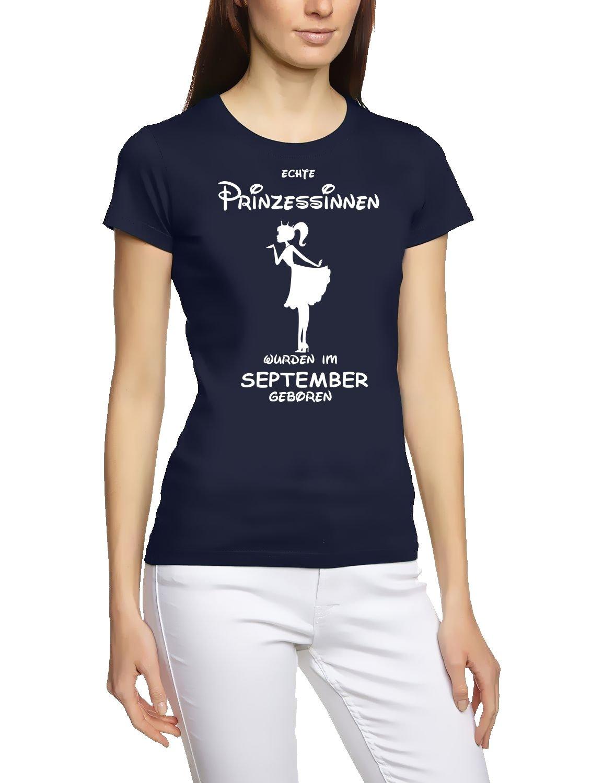 Echte Prinzessinnen wurden im September geboren ! Damen - Mädchen Geburtstag T-SHIRT Gr. S M L XL Prinzessin Birthday Party Feiern
