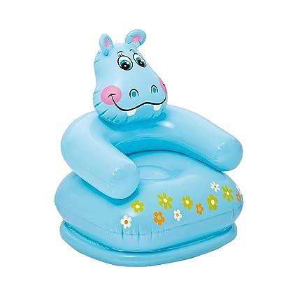 Dabuty Online, S.L. Sillón Hinchable Flotador para Niño Diseño Hipopótamo. Tamaño 65 x 64