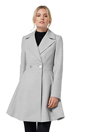 31419a8bd621 Amazon.com: Ever New Womens Athena Fit and Flare Coat: Clothing