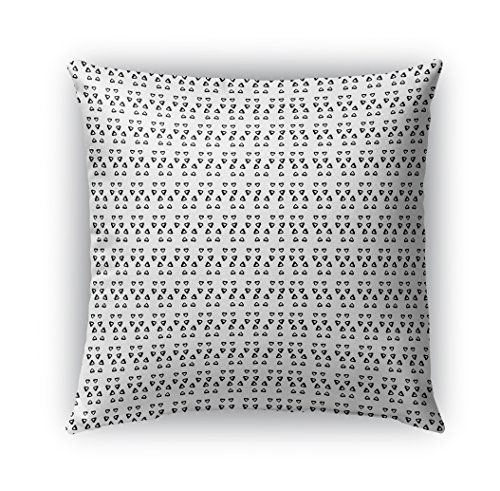 KAVKA DESIGNS Avignon Indoor/Outdoor Throw Pillow, Black, White - 18