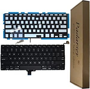 "Padarsey Backlight Backlit Keyboard with 80 PCE Screws for MacBook Pro Unibody 13.3"" A1278 2008-2015 Year W/Screws US Layout"