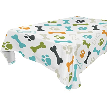 .com: wozo rectangular colorful puppy dog paw print footprint ...