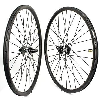 Yuanan 29er - Rueda de Carbono con buje DT 350 MTB para Bicicleta de montaña Cross Country XC, 33 mm de Ancho: Amazon.es: Deportes y aire libre