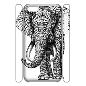 LJF phone case Print Your Own Photo Phone Case with Hard Shell Protection for ipod touch 4 case with Elephant Art on Aztec lxa#430989