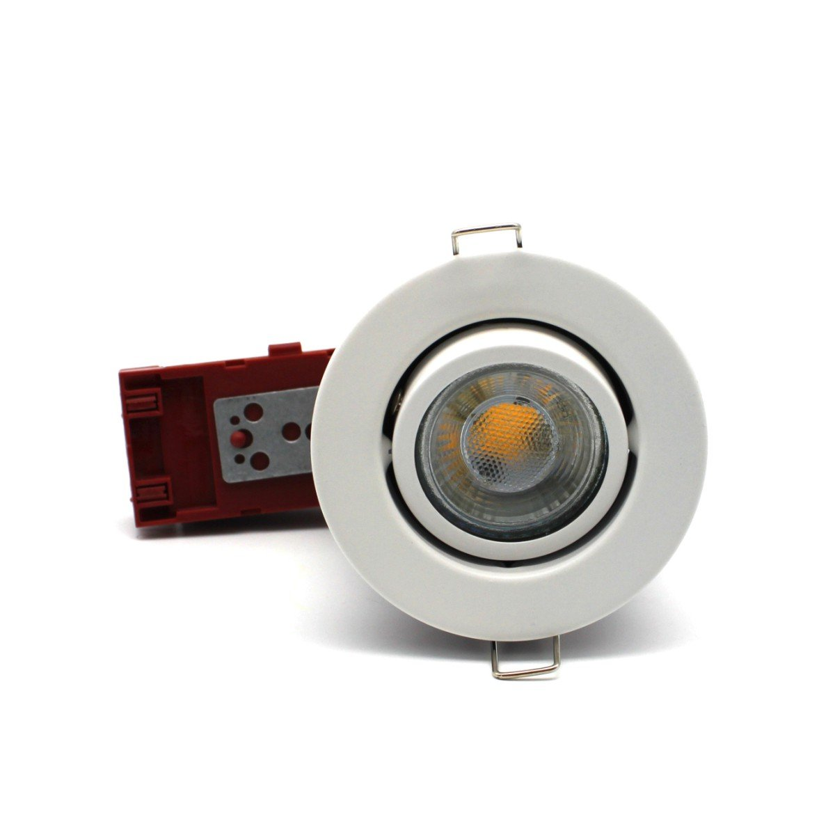 2 X Sanlumia LED Fire Rated Downlight Can GU10 Recessed Ceiling Twist /& Lock Interchangeable Tilted Downlight IP20 Chrome