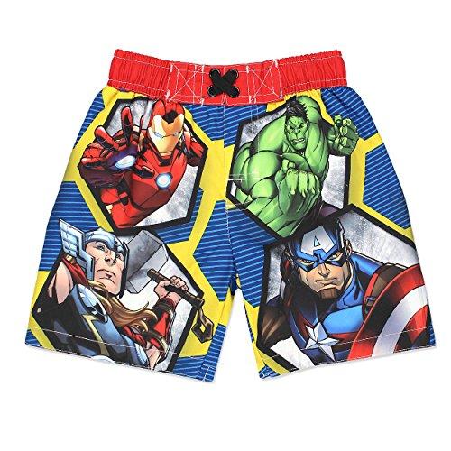Avengers Superhero Boys Swim Trunks Swimwear (Toddler/Little Kid/Big Kid)