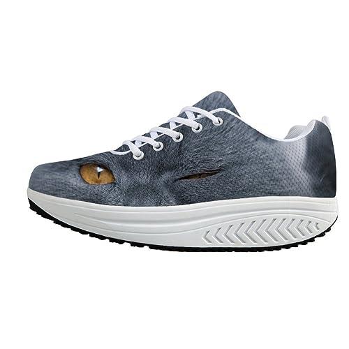 a3e2e0631da9e Amazon.com | Mumeson Stylish Animal Print Platform Sneakers Fitness ...
