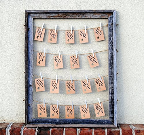 Multiple Picture Frame in Barn Wood, Rustic Home Decor, Rustic Wedding Placecard Holder, Rustic Wedding (Clothespin Place Card Holders)
