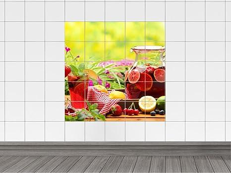 Piastrelle adesivo piastrelle quadro tè freddo con frutta per