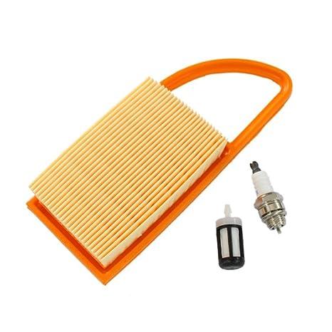HURI Filtro de aire Filtro de combustible para bujías para STIHL BR500 BR550 BR600 mochila de